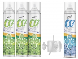 PLANTIS BUTLE CO2 1000ml  4szt. + DYFUZOR CO2 + WĘŻYK